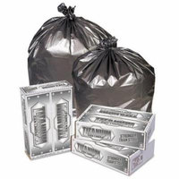 Pitt Plastics Titanium Low-Density Can Liners, 33 gal, 1.5 mil, 33 x 40, Silver - Includes 100 bags.