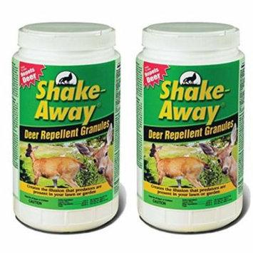 Shake-Away Organic Non-Toxic Safe 5 LB Whitetail Deer Repellant Granules, 2-Pack