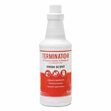 Fresh Products Terminator Deodorizer All-Purpose Cleaner, 32 oz. Bottles, 12/Carton