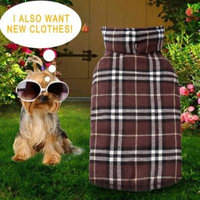 Waterproof Reversible Dog Coat Puppy Jacket Autumn Winter Pet Dog Clothes