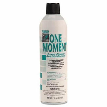 Franklin Cleaning Technology One Moment Foamy Cleaner and Disinfectant, Citrus Scent, 18 oz. Aerosol Can - Includes 12 18-ounce aerosol cans per case.