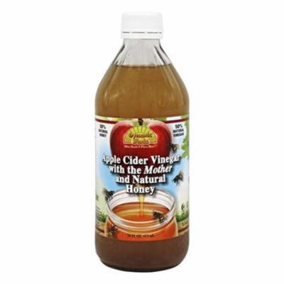 Dynamic Health Organic Apple Cider Vinegar with the Mother and Natural Honey Glass, 16 oz, 2 Pack