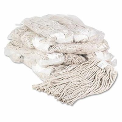 Unisan - Premium Cut-End Wet Mop Heads, Cotton, 20oz, White - 12/Carton