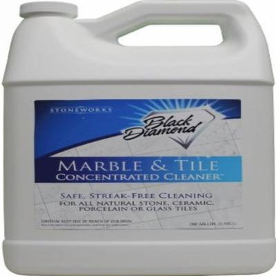 Black Diamond Marble & Tile Floor Cleaner. Great for Ceramic, Porcelain, Granite, Natural Stone, Vinyl & Linoleum . 2 Gallons No-rinse Concentrate
