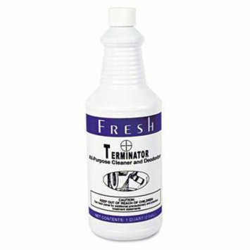 Fresh Products Terminator Deodorizer All-Purpose Cleaner, 32 oz. Bottles - Includes 12 per case.