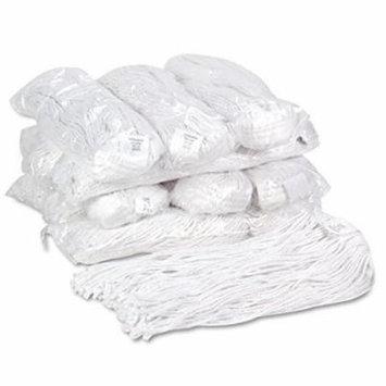 Unisan - Premium Cut-End Wet Mop Heads, Rayon, 20oz, White - 12/Carton