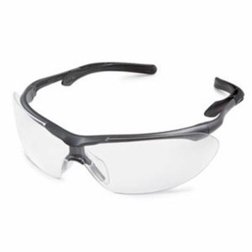35Gy80 Clear with Gray/Blk Fr. Flight Safety Glasses, Gateway Safety, EACH, PR,