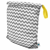 Planet Wise Roll Down Wet Diaper Bag, Gray Chevron, Large