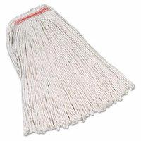 Rubbermaid Commercial Premium Cut-End Cotton Mop, White, 20 oz, 1-in. Orange Headband - Includes 12 per case.