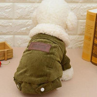 Berber Fleece Dog Jacket Warm Coat Winter Dog Clothes Outer Garment Outfit