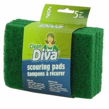 Dark Green Scour Pads -5 Count