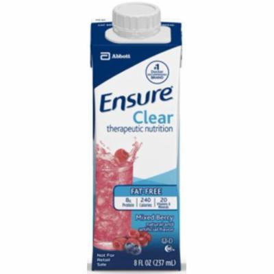 Ensure Clear Ready-to-Drink Mixed Berry, Institutional, 8 oz, Brik Pak Case of 24