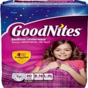 Goodnites Youth Pants for Girls Large/X-Large, 1 Case of 44