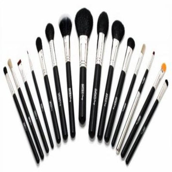 Mojo Beauty Premier 15-Piece Professional Make-up Brush Kit With Gold Heart Zipper