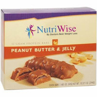 NUTRIWISE - High Protein Diet Bar |Peanut Butter & Jelly| Low Calorie, Low Fat, Low Cholesterol (7/Box)