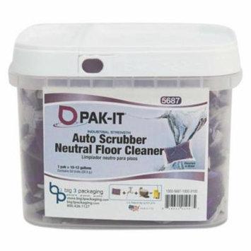 PAK-IT - Auto-Scrubber Neutral Floor Cleaner, Citrus Scent, 50/Tub 568720003200 (DMi EA