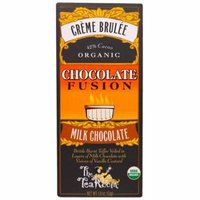 The Tea Room, Creme Brulee, Organic Chocolate Fusion, Milk Chocolate, 1.8 oz(pack of 12)