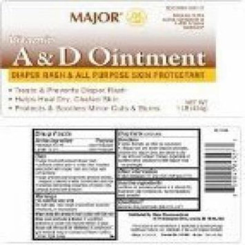Major A+D Ointment, Diaper Rash and All-Purpose Skin Protectant 1 lb (454gm) *Compare to the same active ingredients in A+D Ointment and save!!*