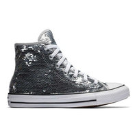 Women's Converse Chuck Taylor All Star Sequin High Top Sneakers, Size: 11, Silver