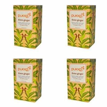 (4 PACK) - Pukka Three Ginger Tea| 20 Bags |4 PACK - SUPER SAVER - SAVE MONEY
