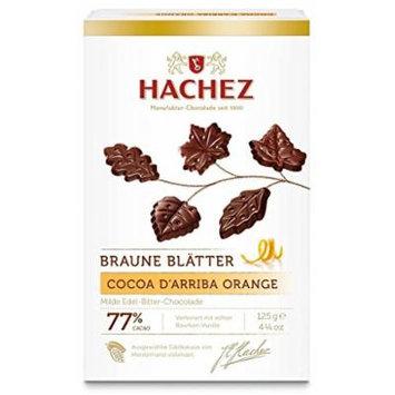 Hachez Braune Blätter Cocoa d'Arriba Orange (125 g)