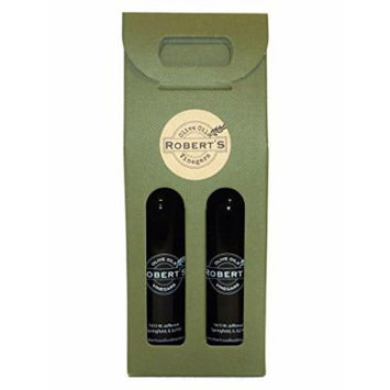 Robert's Infused Olive Oil and Balsamic Vinegar - 2 (375ml) bottle gift pack - Garlic and Pomegranate
