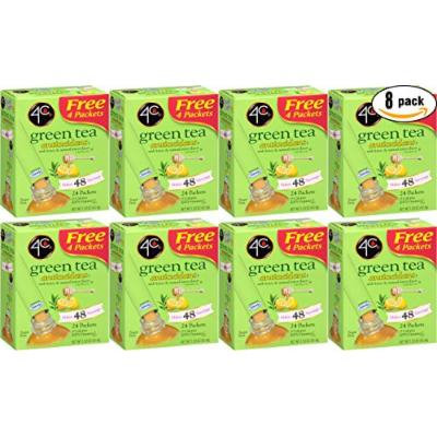 4C Green Tea Antioxidant With Honey & Natural Lemon, 1.53oz per Packet, 24 Ct. Box (Pack of 8, Total of 192 Packets)