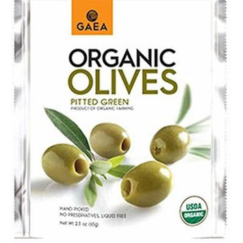 Gaea Organic Pitted Green Olives 65g (Pack of 4)