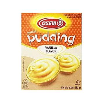 Osem Instant Pudding Vanilla Flavor 2.8 Oz. Pack Of 6.