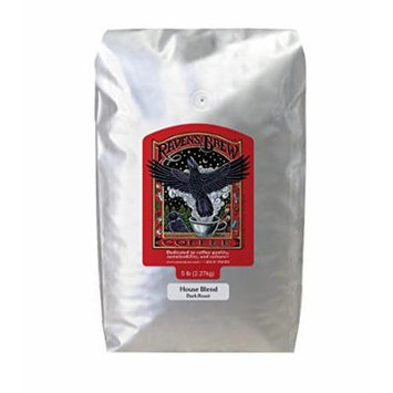 Raven's Brew Ground Coffee 5 LB Bag (House Blend)