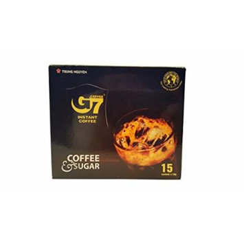 G7 Coffe & Sugar Vietnamese Coffee, 8.5oz(240g), 15 Sticks