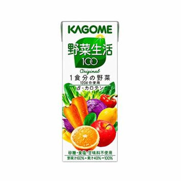 KAGOME LIFE 100 Fruit & Vegetable Juice (Original) 200ml---30 boxes ($2.7/box)