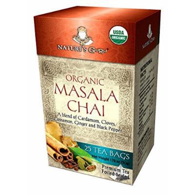 Nature's Guru Organic Masala Chai Tea Bags 25 CT