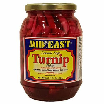 Mid East Lebanese Style Turnip Pickles 32 FL. OZ. (1QT)