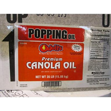 Odell's Popping Oil Premium Canola Oil CO035 35 lbs Popcorn Flavored