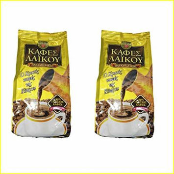 2 x 200g GOLD Laikou the Traditional Cyprus Greek Ground Coffee from Freshly Roasted Coffee Beans