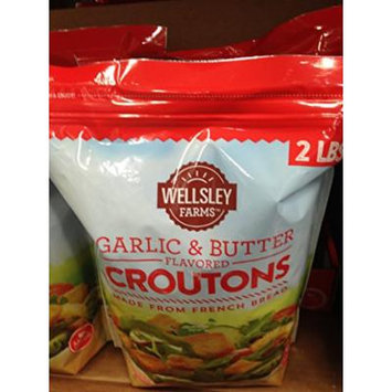 Wellsley Farms garlic butter croutons 32 oz. (pack of 2)