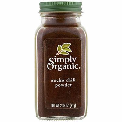 Simply Organic Ancho Chili Powder Certified Organic, 2.85 Ounce, 3 Jars