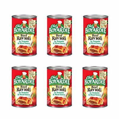 Chef Boyardee Beef Ravioli in Tomato & Meat Sauce 40 oz (Pack of 6)