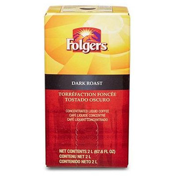 Folgers Liquid Coffee - Dark Roast 1 box/2 L - Replaces Douwe Egberts Euro