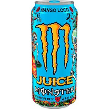 Juice Monster Energy, Mango Loco, 16 Ounce (Pack of 24)