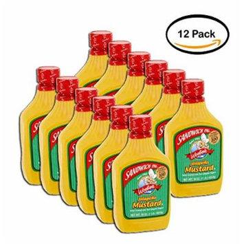 PACK OF 12 - Woeber's Sandwich Pal Jalapeño Mustard, 16 oz