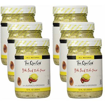 The Ojai Cook Bite Back Tartar Sauce - Organic, Spicy Flavored Mayonnaise Made with Cage-Free Eggs, Jalapeno and Horseradish - 12 fl oz (Pack of 6)