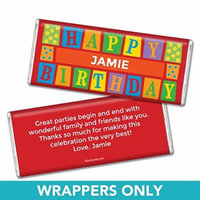 Birthday Personalized Chocolate Bar Wrappers - Sesame Street (25 Wrappers)