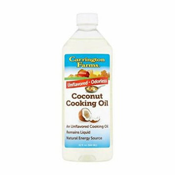 Carrington Farms Coconut Cooking Oil, 1L/32 fl oz (Pack of 2)