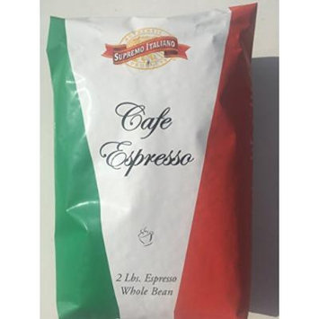 Supremo Italiano Cafe Expresso Whole Bean Coffee Cafe Gourmet Coffee Classic Italian Espresso 2 Lb