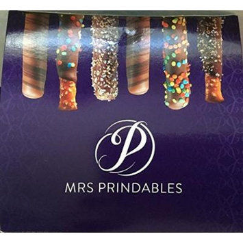 Mrs. Prindables 24 Chocolate Dipped Caramel Pretzel Rods 2.11 lbs. (Pack of 2 bxs.)