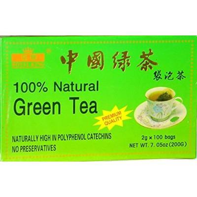 CHINESE PREMIUM GREEN TEA (100 BAG each box) Royal King Brand (pack of 5) (5)