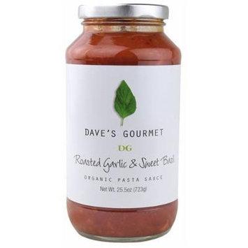 Dave's Gourmet 6 Piece Roasted Garlic and Sweet Basil Organic Pasta Sauce, 25.5 Ounce