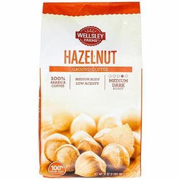 Hazelnut Ground Coffee , 100% Arabica Medium Dark Roast Low Acidity , 2 Pounds (32 Oz) , Pleasing Aroma & Creamy Finish - Perfect Morning Cup of Joe (Hazelnut)